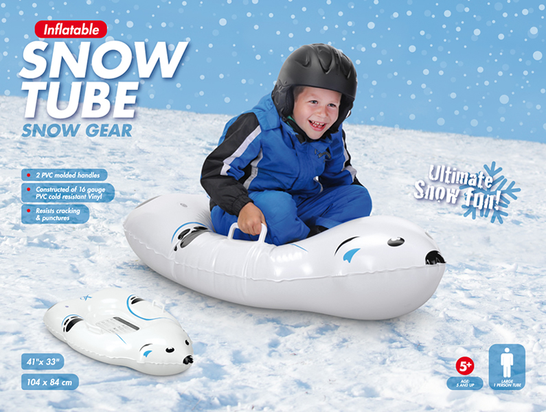 Inflatable Polar bear Snow Tube