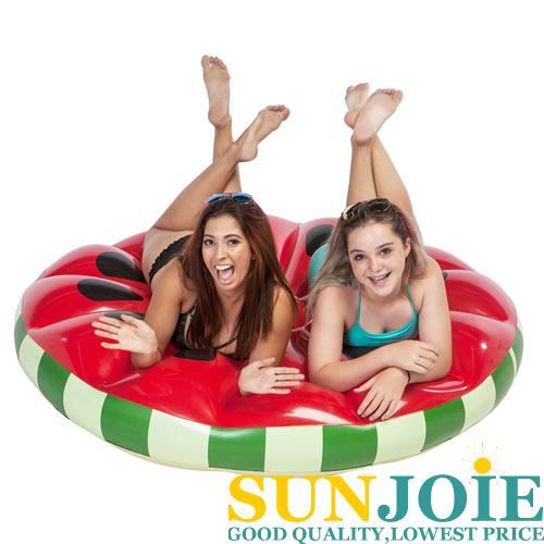 BNJumbo Watermelon Slice Island Float Ring Swimming Pool summer Swim Inflatable