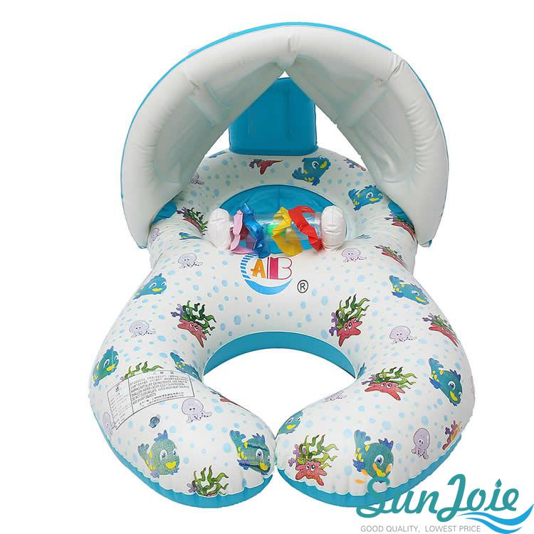 Inflatable Mother Baby Swimming Ring Swim Pool Water Seat Float With ...