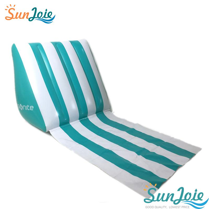 Wedge Inflatable Beach Chair Festival Lounger Pillow Cushion Seat Stable C5G6